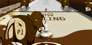 Brown Cow Curling
